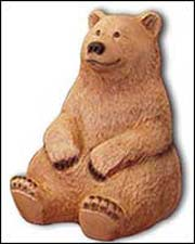 Carved Wooden Bear, sitting