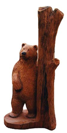 Tree Hugger Bear Carving