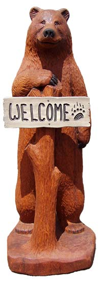 Welcome Bear Carving