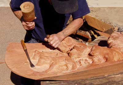 R.L. Blair Carving Wolves