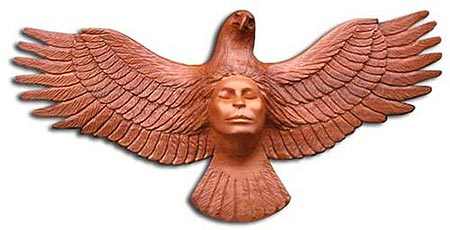 Eagle Woman Wall Sculpture