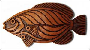 Angel Fish Woodcarving