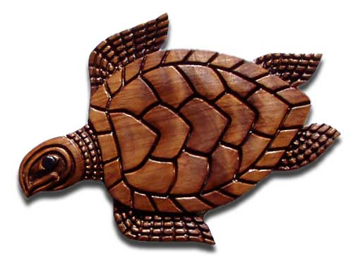 Turtle Wood Sculpture - Wall Art