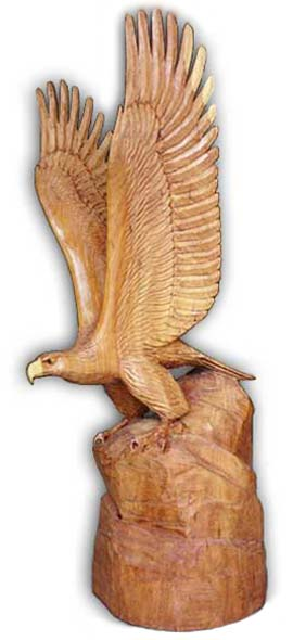 Wooden Eagle Statue Sculpture Wood Carvings